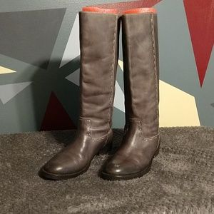 True Religion Leather Gray Ombre Maddy Boot